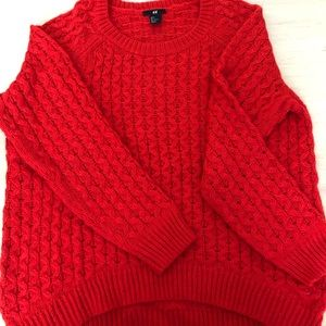 Bright red comfy sweater size S